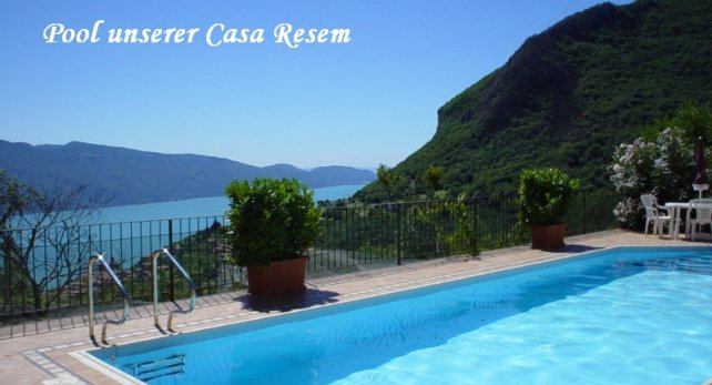 Pool unserer Casa Resem in Tignale am Gardasee